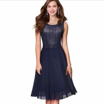 Women Elegant Sleeveless Party Dress