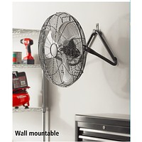 Industrial High Velocity Garage Floor or Wall Mountable Fan