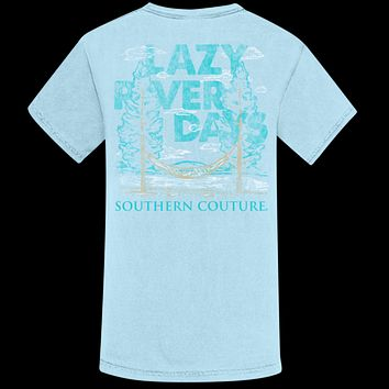 Southern Couture Lazy River Days Comfort Colors T-Shirt