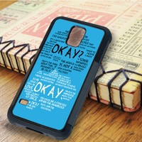 The Fault In Our Stars John Green Okay Okay Quotes   For Samsung Galaxy S5 Cases   Free Shipping   AH1075