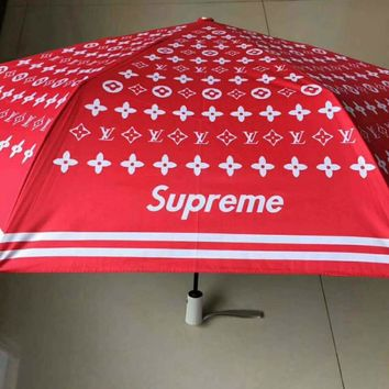 Supreme & LV fashion tide brand personalized sunscreen UV umbrella LV-DPYS