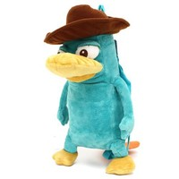 "Phineas and Ferb Perry the Platypus 16"" Plush Backpack"