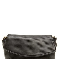 Deux Lux Perforated Faux Leather Belt Bag