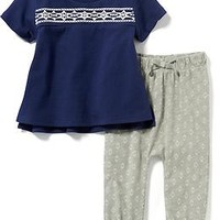 Tunic Tee and Printed Legging Set for Baby