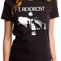 "Women's ""T. Rexorcist"" Tee by Goodie Two Sleeves (Black)"