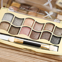 Professional Eye Makeup 12 Colors Eyeshadow Palette Gold Smoky