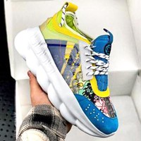 Versace 2019 new wild fashion lace sports shoes