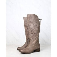 Not Rated - Hermosa Cut Out Knee-High Boot in Burnished Taupe