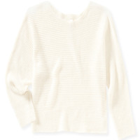 Aeropostale  Womens Cropped Dolman Sweater - Beige, X-Small