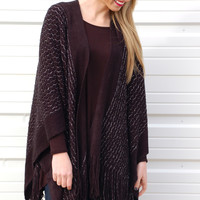 All That Shimmers Shawl-Black