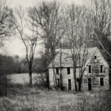 Black And White Abanded House Art Photography, 11x14 Print | Luulla