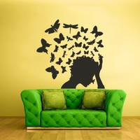 Wall Vinyl Sticker Decals Decor Art Bedroom Design Mural Butterflys Head (Z1988)