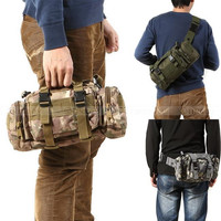 3P Tactical Waist Pack Hiking Ride Waist Pack Chest Pack Shoulder Bag Outdoor Travel Waterproof Military Tactical Backpack