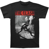 Clash Men's  Smashing Guitar Slim Fit T-shirt Black