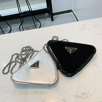 PRADA triangle chain bag