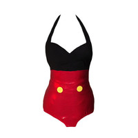 Mickey Mouse Inspired Swimsuit Disney Custom Fit Costume Style