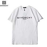 Givenchy Fashion New Summer Letter Print Women Men Top T-Shirt White