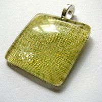 Glass tile pendant - Japanese fabric series [PD-JP-0015] from Angel Hearts Crafts