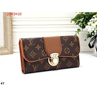 LV 2019 new women's classic old flower long paragraph purse card holder #7