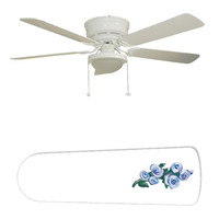"""Kate's Blue Rose 52"""" Ceiling Fan with Lamp"""