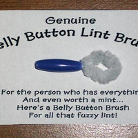 Genuine Belly Button Lint Brush Novelty Joke Gag by PyrateWench