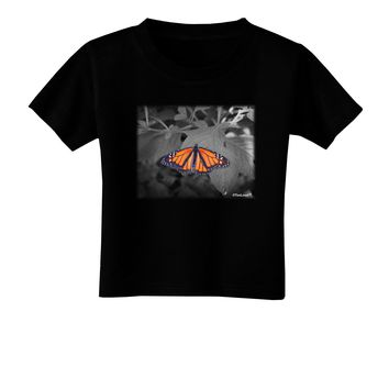 Monarch Butterfly Photo Toddler T-Shirt Dark