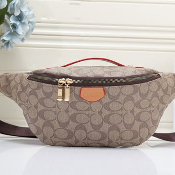 Coach new casual simple printed shoulder bag purse chest bag