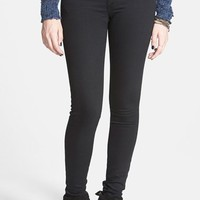 Junior Women's STS Blue Stretch Skinny Jeans (Black)