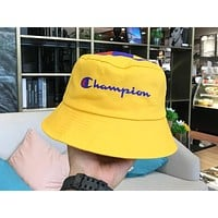 Champion street fashion men and women cowboy canvas fisherman hat Yellow