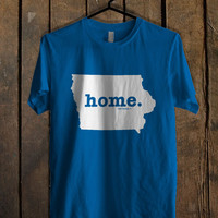 Iowa Home Art Blue For Mens T Shirt and Womens T Shirt *76*