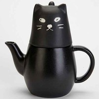 Black Cat Tea-For-One Set