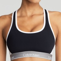 Calvin Klein Underwear Sports Bra - Low Impact Colorblock Racerback #QF1083 | Bloomingdales's