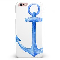Dark Blue Watercolor Anchor iPhone 6/6s or 6/6s Plus INK-Fuzed Case