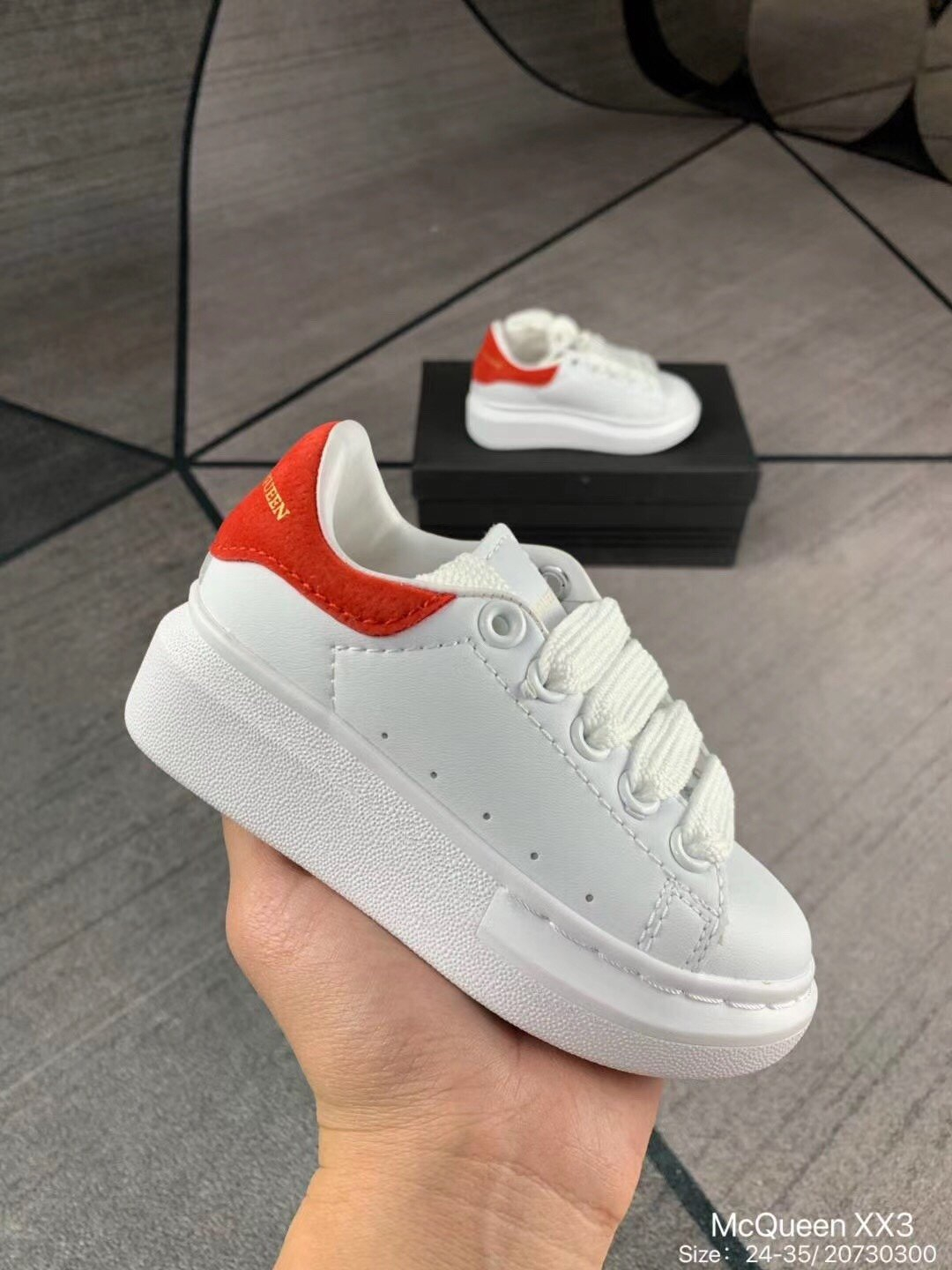 Image of McQueen Child Girls Boys shoes Children boots Baby Toddler Kids Child Fashion Casual Sneakers Sport Shoes