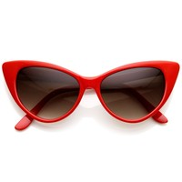 Red Cat Eye Shaped Red Fashion Mod Retro Sunglasses for Women