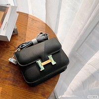 Hermes Women Leather monnogam Handbag Crossbody bags Shouldbag Bumbag
