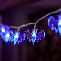 Halloween Decoration Solar Led Power String Lights 30LED Bat Lights for Outdoor Patio Garden Festival Supplies L35