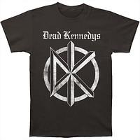 Dead Kennedys Band Distressed Old English Logo Fitted Jersey T-Shirt Tee Casual Short Sleeve Men's Fitness T Shirt- Black