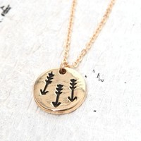 With Love From CA Triple Arrow Necklace - Womens Jewelry - Gold - One