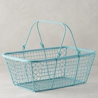 Fitler Market Basket by Anthropologie in Sky Size: One Size Office
