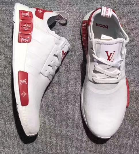 Image of Adidas NMD x LV Louis Vuitton Fashion Trending Leisure Running Sports Shoes