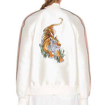 Stella McCartney Tiger Bomber in Ivory | FWRD
