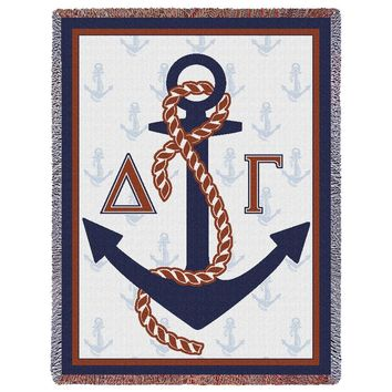 DELTA GAMMA ANCHORS THROW BLANKET