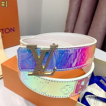 Louis Vuitton LV Hot Sale New Products Men's and Women's Leather Embossed Letter Belt