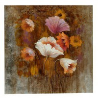 """Crestview Poppy On Gallery Wrap Canvas - 40"""" x 40"""" - CVBWE897 - Oil Paintings - Wall Art & Coverings - Decor"""