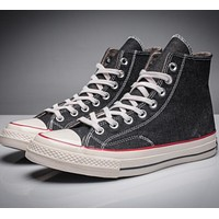 CONVERSE black high classic men and women leisure shoes-2