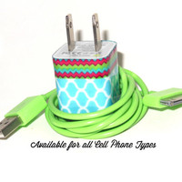 iPhone 5 Charger Decorated with Awesome Colors  by PersonalPower