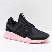 New Balance Lifestyle 247 V2 Black & Himalayan Salt Pink Shoes | Zumiez