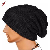 2018 Warm Fashion Winter Hat For Men Knitting Hat Cap Women Beanie Hat Cap Skullies Beanies Elastic Hats Drop Shipping