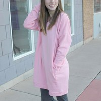 Long Oversized Sweater - Pink